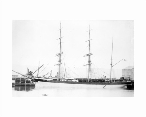Photograph of the 3 masted barque 'Weiwera' (1870) in 1889-1905 by unknown