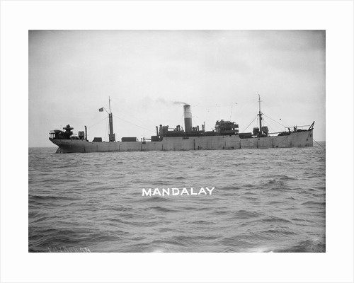 Cargo liner 'Mandalay' (Br, 1911) at anchor by unknown