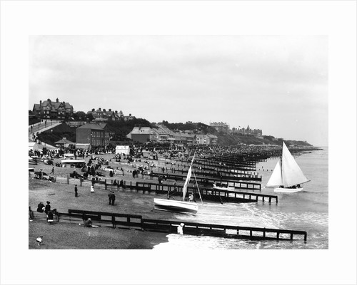 The beach and promenade at Felixstowe, looking towards the Felix Hotel and Cobbolds Point by Marine Photo Service