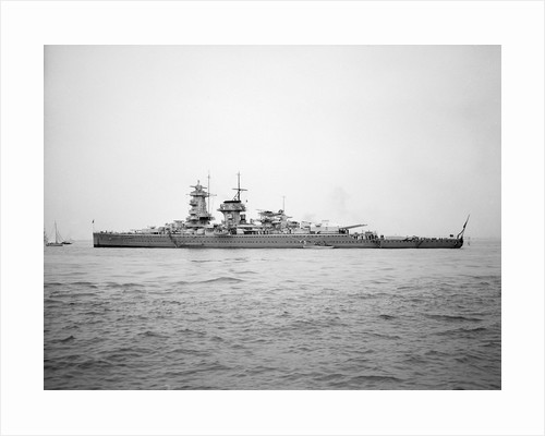 'Admiral Graf Spee' (Ge, 1934), anchored at Spithead for the Coronation Review of King George VI by unknown