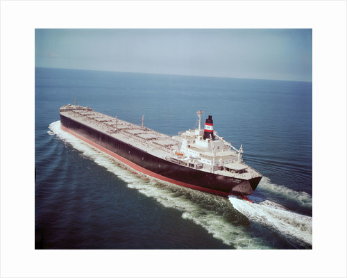 'La Loma' (Br, 1972), under way in the Strait of Malacca, in ballast, probably on maiden voyage by unknown
