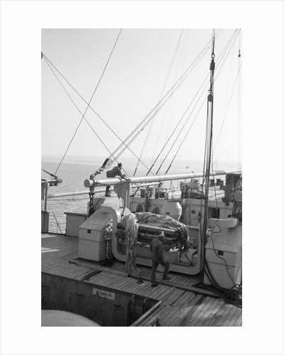 Deck view of passenger/cargo liner 'Corfu' (Br, 1931), Peninsular & Oriental Steam Navigation Co. by unknown
