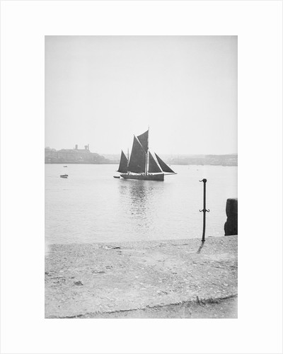 Photograph of the 'Erycina' (1882) under sail in Plymouth harbour in September 1934 by unknown