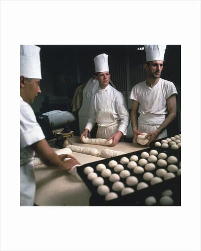 Chefs preparing breakfast aboard Union-Castle liner 'Windsor Castle' by Marine Photo Service