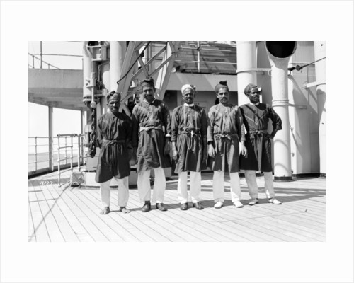 Crew on deck aboard P&O passenger/cargo liner 'Viceroy of India' (Br, 1929) by unknown