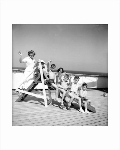 Children's hostess and junior passengers aboard 'Chusan' by Marine Photo Service