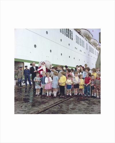 Christmas aboard the 'Empress of England' by Marine Photo Service