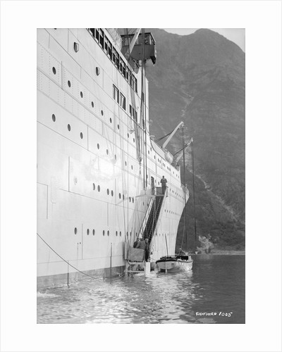 'Gripsholm' at anchor in Eidfjord, Norway by Marine Photo Service