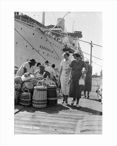 Ladies on a quayside at Jamaica, West Indies by Marine Photo Service