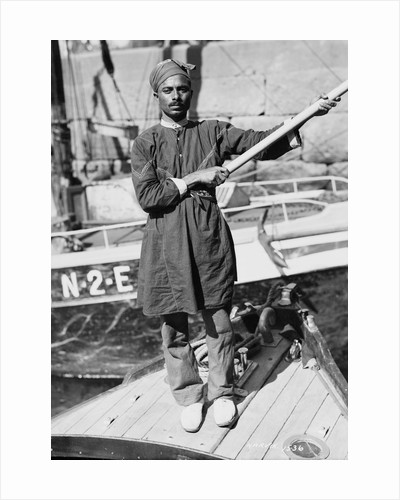 Lascar crew member at Narvik, Norway by unknown