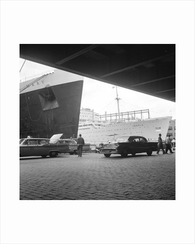 The 'Queen Mary' and 'Iberia' in New York by Marine Photo Service