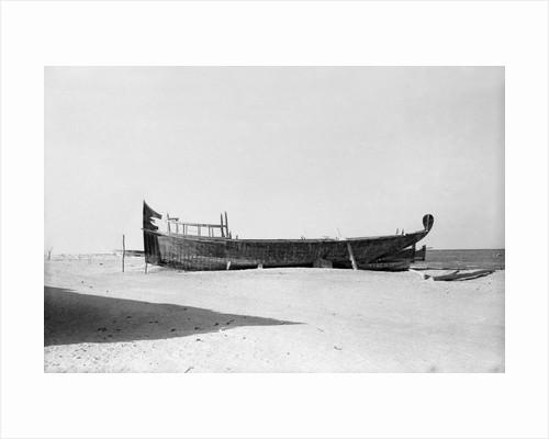 Pearl battil on the al-Khobar shore by Alan Villiers