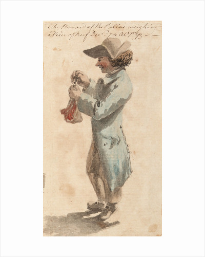 Bray Album: 'The Steward of the Pallas weighing a Piece of Beef, December 1774' by Gabriel Bray