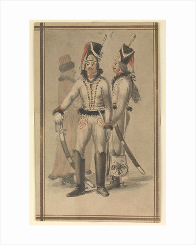 Figures in Russian (?) military uniform by Gabriel Bray