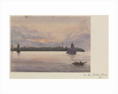 'On the Canton River' [Guangzhou, China] by James Henry Butt