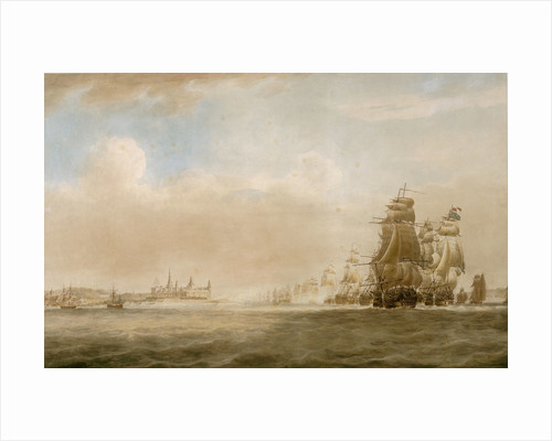 The British fleet off Kronborg Castle, Elsinore, 28 March 1801 [before the Battle of Copenhagen] by Nicholas Pocock