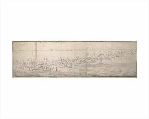 The Battle of the Texel (Kijkduin), 11/21 August 1673, first part by Willem van de Velde the Elder