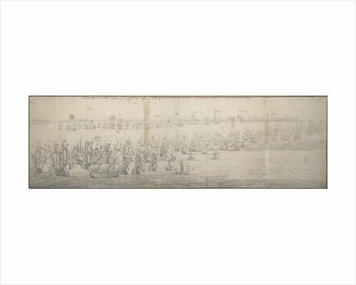 The Battle of the Texel (Kijkduin), 11[OS]/21 August 1673; first part by Willem van de Velde the Elder