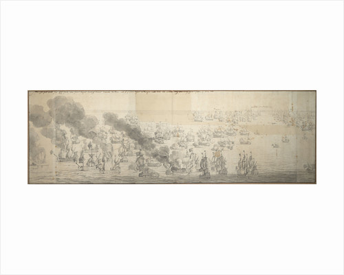 The Battle of the Texel (Kijkduin), 11/21 August 1673, sixth part by Willem van de Velde the Elder