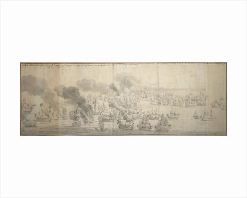 The Battle of the Texel (Kijkduin), 11/21 August 1673, seventh part by Willem van de Velde the Elder