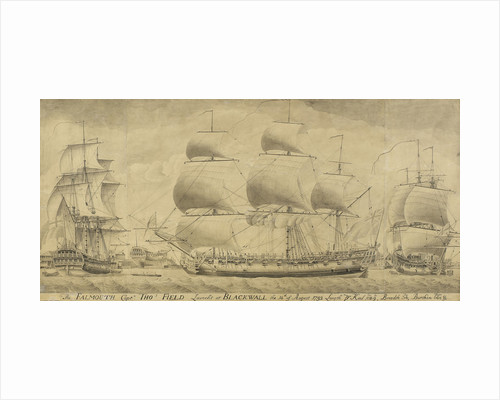 Launch of the 'Falmouth', 1752 by unknown