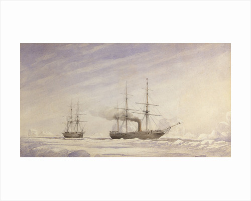 'Phoenix' and 'Breadalbane' in Melville Bay by Edward Augustus Inglefield