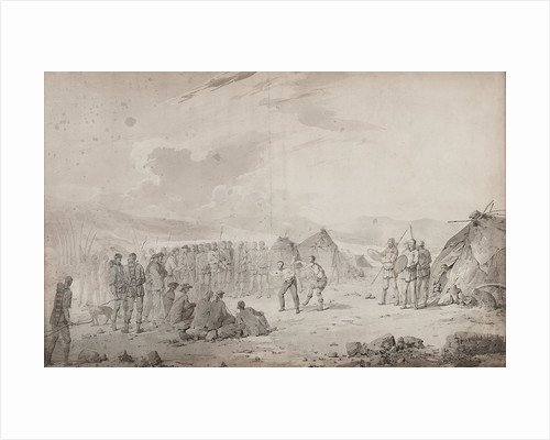 Captain Cook's meeting with the Chukchi in 1778 by John Webber