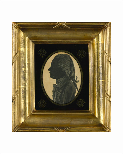 Silhouette of Cuthbert Collingwood drawn by Horatio Nelson when both were serving in the West Indies by Horatio Nelson