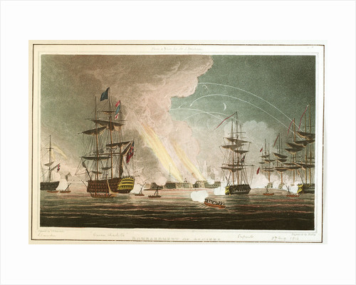 Bombardment of Algiers. From a plan by Sir J Brisbane by Thomas Whitcombe