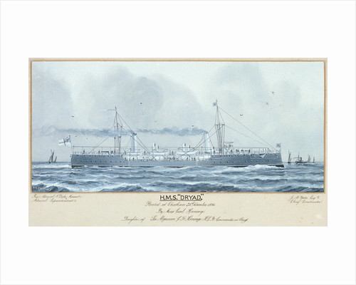 HMS 'Dryad' floated at Chatham 25 November 1893 by P.A. Chinnery