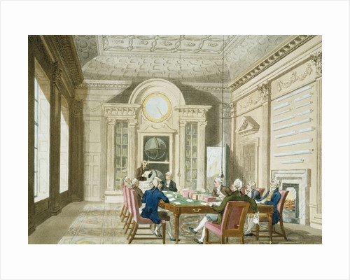 Board room of the Admiralty by Thomas Rowlandson
