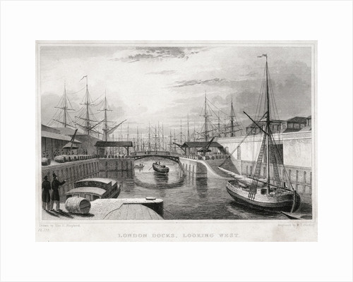 London Docks, looking west by Jones & Co