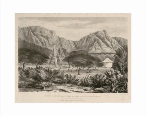 Site of the Twenty Feet Reflector at Feldhausen. Cape of Good Hope Sept 1834 by John Frederick William Herschel