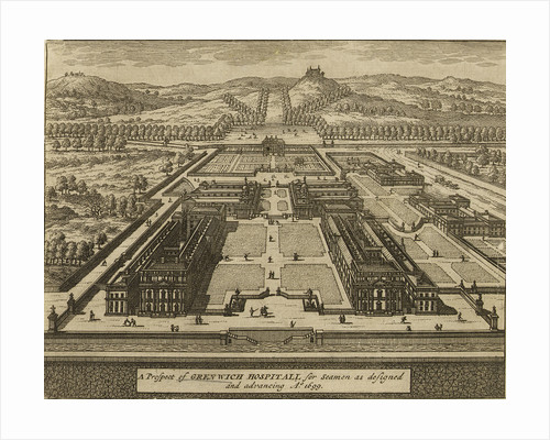 A Prospect of Greenwich Hospital for seamen by Johannes Kip