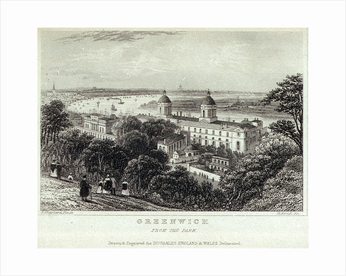 Greenwich, From the Park by Thomas Hosmer Shepherd