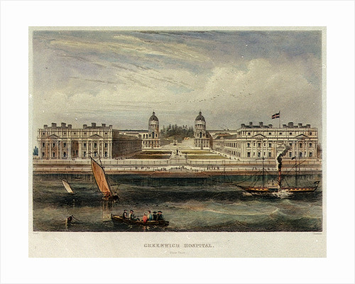 Greenwich Hospital. River Front by Read