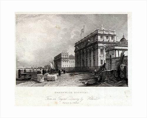 Greenwich Hospital. From an Original Drawing by Holland by James Holland