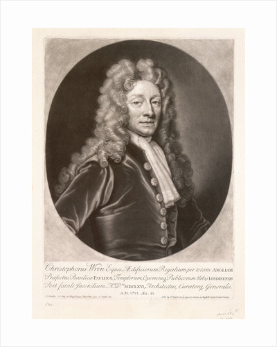 Christopher Wren by Godfrey Kneller