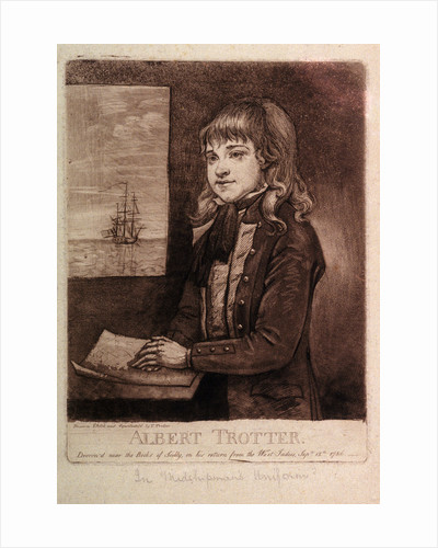 Albert Trotter, drown'd near Rocks of Scilly on his return from the West Indies, September 12th 1786 by Thomas Trotter