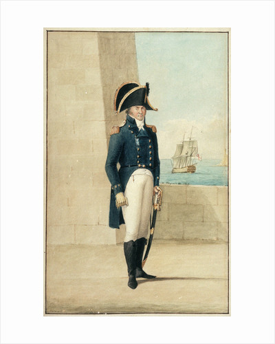 Captain (Alexander Ball?) wearing the uniform of 1795-1812 by Antonio Grech