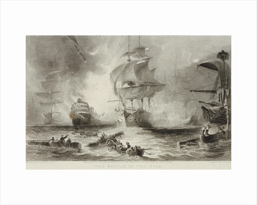 The Battle of the Nile, 1798 by George Arnald