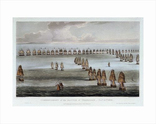 Commencement of the Battle of Trafalgar, 21 October 1805 by Thomas Whitcombe