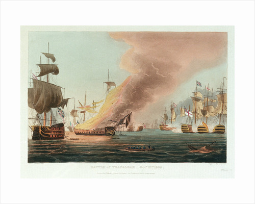 Battle of Trafalgar, 21 October 1805 by Thomas Whitcombe