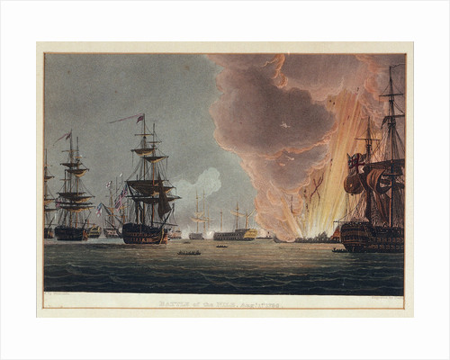 Battle of the Nile, 1 August 1798 by Thomas Whitcombe