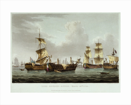 Lord Hotham's Action, 14 March 1795 by Thomas Whitcombe