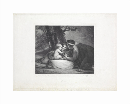 Shakespeare nursed by Tragedy and Comedy by George Romney
