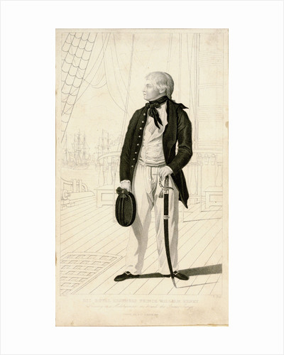 His Royal Highness Prince William Henry. Serving as a Midshipman on board the Prince George by Benjamin West