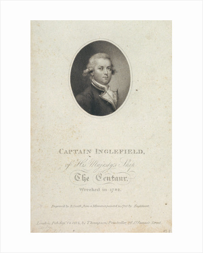 Captain Inglefield of His Majesty's Ship The Centaur wrecked in 1782 by George Engleheart