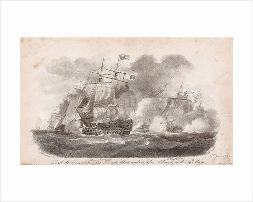 The Battle of the Glorious 1 June, 1794: Lord Howe engaging the French Fleet under Adm Villaret on the 29 May by Nicholas Pocock