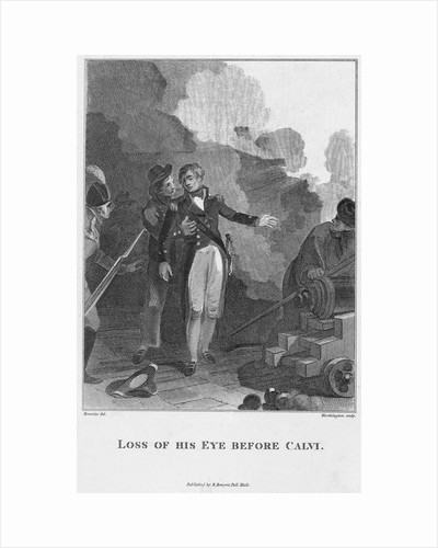 Nelson's loss of his eye by William Bromley